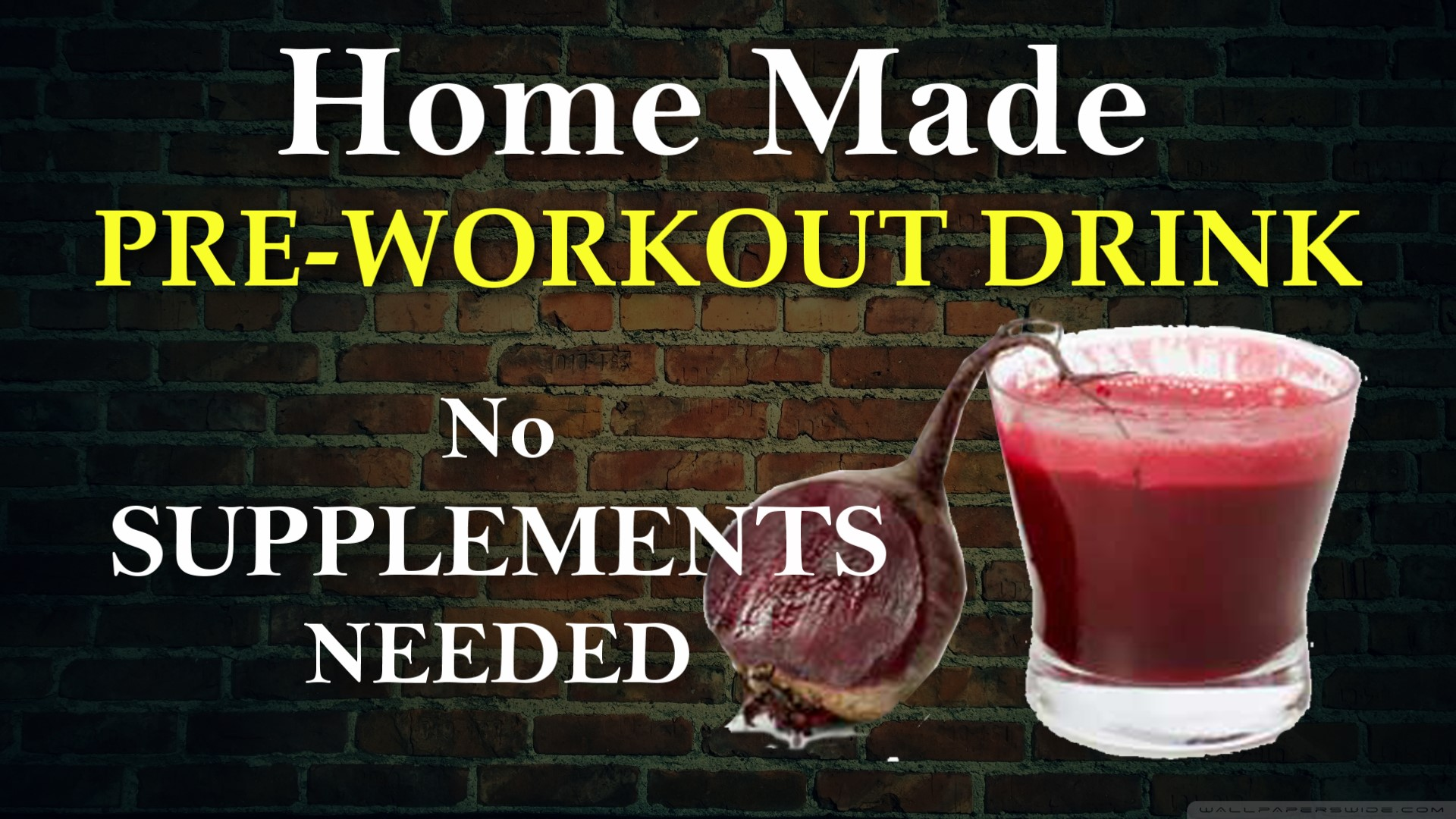Home Made Pre-Workout Smoothie Drink | No Supplements needed