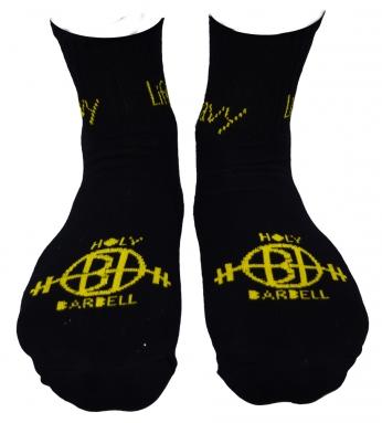 Lift Heavy Sweat Absorbing Capacity Black Socks</br>