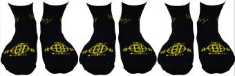 3 Pcs Lift Heavy Sweat Absorbing Capacity Black Sock Co..
