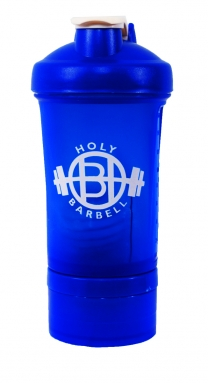 Blue Gym Shaker Bottle with Vitamin & Protein compartme..