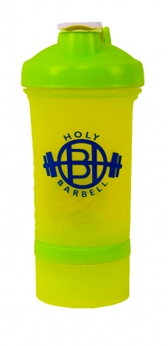 Florescent Green Gym Shaker Bottle with Vitamin & Prote..