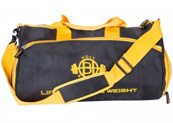 Lift Heavy Black & Yellow Gym Bags with multiple Compar..