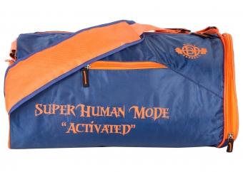 Super Human Blue & Orange Gym Bags with Shoe Compartmen..