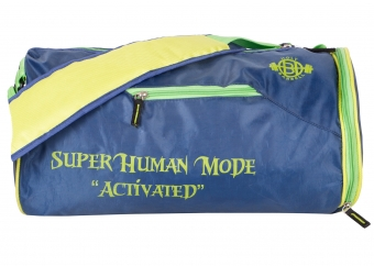 Super Human Blue & Green Gym Bags with Shoe Compartment</br>