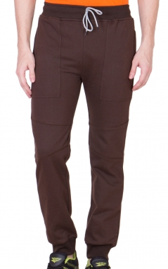 Coffee Brown Mighty Basic Track Pants/ Joggers</br>