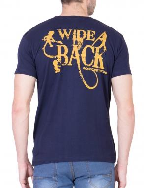 Mile Wide Back Navy Blue Performance T-Shirt</br>